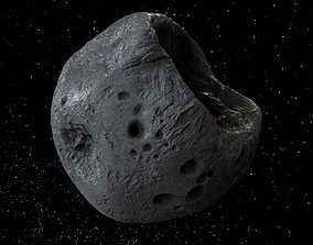 Detailed asteroid 3D PBR