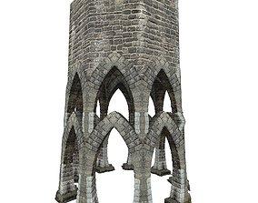 3D model Gatehouse 01 Aqueduct Circle Pillar 07