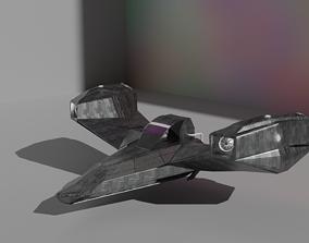 3D asset Sci-Fi Spaceship Concept Art Spacecraft