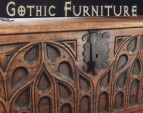 3D model Gothic Furniture 2