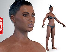 3D asset Average Black Female Body