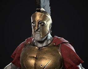 Greek spartan armor 3D model