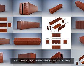 6 and 12 Meter Cargo Container Model Kit Collection 3D