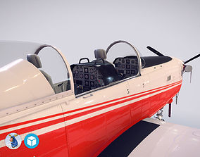 3D model Pilatus PC-7 Mk-I FactoryRedWhite livery