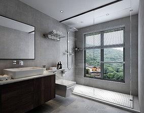 game-ready Bathroom-3D model