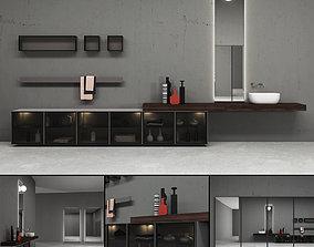 Bathroom furniture set Bespoke 4 3D model