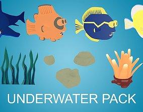 3D model animated Underwater Pack