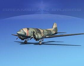 Douglas C-47 Dakota USAF V06 3D