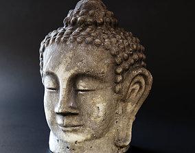 3D Buddha head sculpture