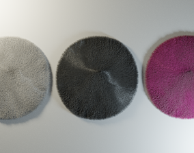 3D Furry Rounded Carpet