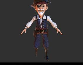 3D asset PBR Pirate Character Cartoon Stylized