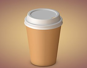 3D model low-poly Coffee Cup cafe