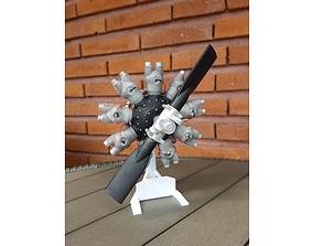 Radial engine 3D print model science