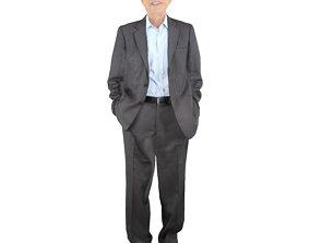 3D model No421 - Elderly Male