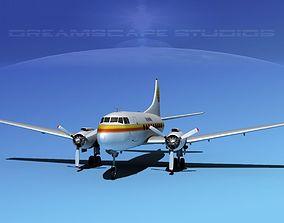 Martin 202 DHL Airlines 3D model
