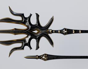 Magic Staff 3D asset low-poly