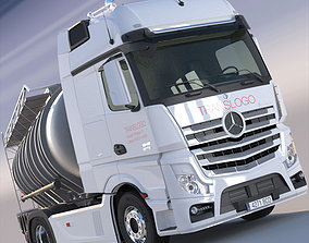 3D Mercedes Actros MP4 GigaSpace with ADR Tanker