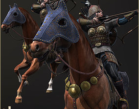 Eva And Adam Horseman Archers 3D model animated
