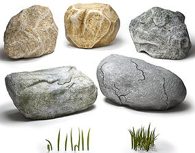 pebble 3D model Stones collection