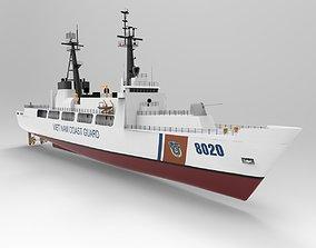 Coast guard ship 3D model