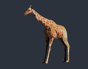 giraffe 3D model reticulated