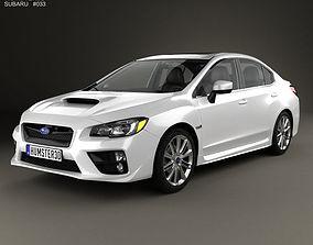 3D model Subaru WRX with HQ interior 2014 impreza