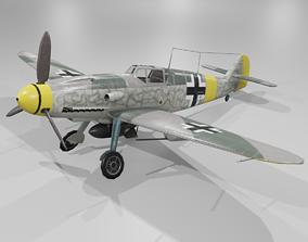 Messerschmitt Bf 109 F-1 Fighter Aircraft 3D model