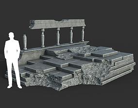 3D asset Low poly Ancient Roman Ruin Construction 08 - 1