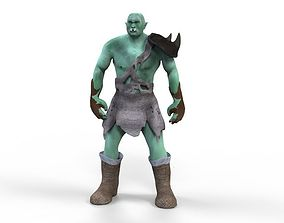 3D asset animated Orc Character