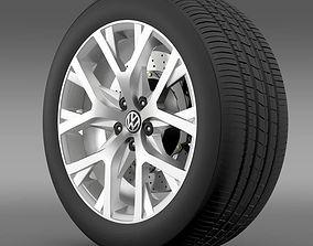 3D model Volkswagen CrossPolo 2014 wheel