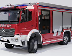 3D model Rosenbauer AT Fire Truck