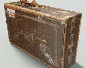 Vintage Suitcase Retro 3D asset game-ready