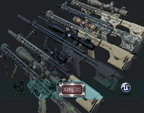 3D asset Modular Combat Rifle-Designated Marksman Variant