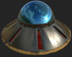 UFO Flying Saucer - Area 51 Pack 3D asset