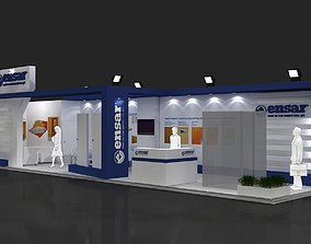 Exhibition Stand - ST0067 3D model