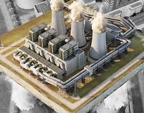 Coal Power Station 3D