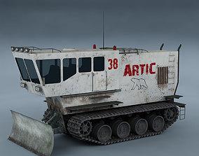 3D model concept Polar transporter V1 white