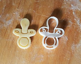 3D print model Baby pacifier cookie cutter