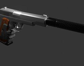 silverballer gun Game ready 3D model