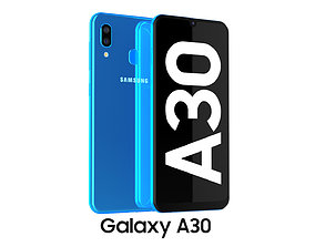 3D model Samsung Galaxy A30 Blue