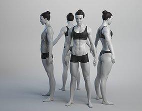 3D asset Female Basemesh 08