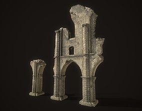 Ancient Cathedral Ruins 3D asset