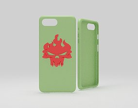 3D print model cases iphone 7 plus green ghost rider thema