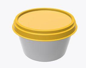 Margarin round package 3D