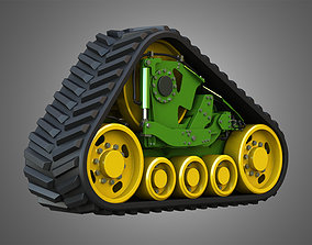 3D model Rubber Track System - Crawler Tractor