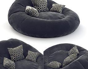 3D Foam Bean Bag Chair Black