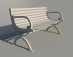 park Bench 3D asset VR / AR ready