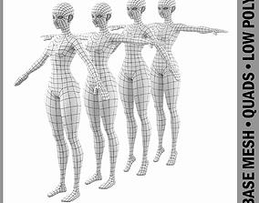 Stylized Girl Abby Shape Mesh 3D model
