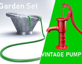 Backyard Water Pump 3D model PBR