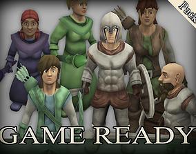 3D asset Heroes Fantasy Character Optimization
